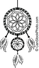 Dream catcher hand drawn ink illustration