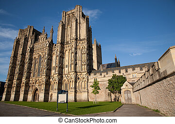Wells Cathedral, England, UK - Wells Cathedral Church,...