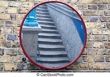 Stairs in Mirror