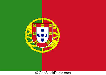 Flag of Portugal. - Civil and state flag and national ensign...