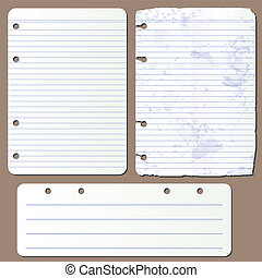vector pages from notepad - Vector illustration various...