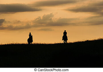 romantic horseback ride - Image of the romantic horseback...