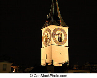 St. Peter\\\'s Church tower with Europe?s largest church...