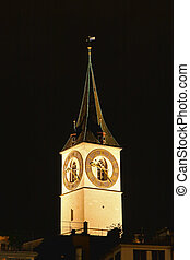 St Peters Church tower with Europes largest church clock...