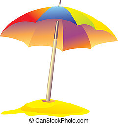 colored beach umbrella