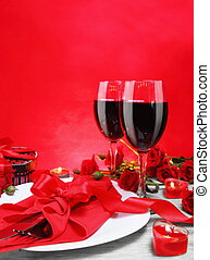 Romantic Candlelight Dinner for Two Vertical - Romantic...