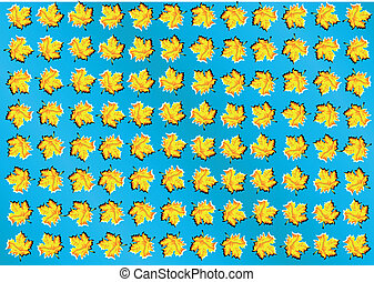 optical illusion. abstract background with leaves
