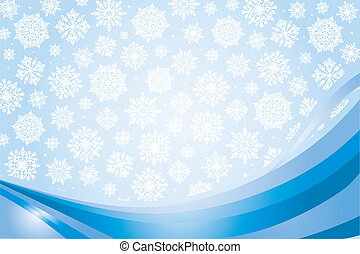 pale blue christmas-card background with snowflakes