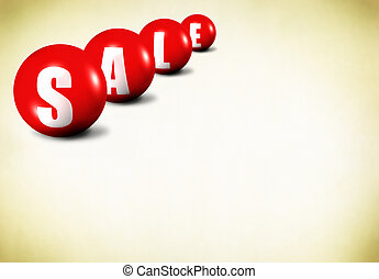 sale on old fashioned background