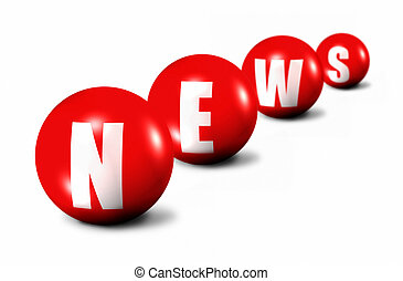 red News word made of spheres