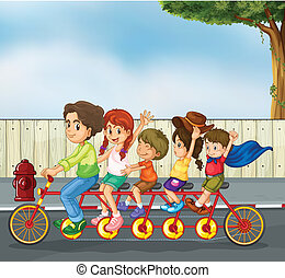 Kids on the bicycle