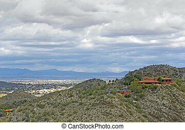 Scottsdale, AZ - View of Scottsdale from North Mountain...
