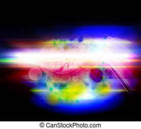 colorful fantasy light motion