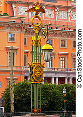 Lamppost at Panteleymonovsky Bridge across the Fontanka...