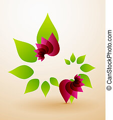 Spring flower abstract background