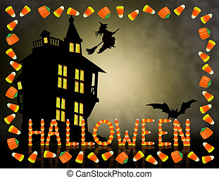 Halloween Candy Corn Frame spooky - Image and illustration...