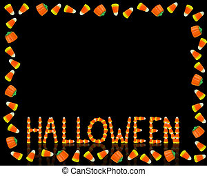 Halloween Candy Corn Frame black - Image and illustration...