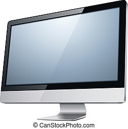 tv monitor - lcd tv monitor, vector illustration.