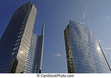 skyscraper in Milan,Italy - view of a skyscraper in...