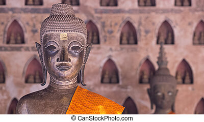 Buddha Image at Wat Si Saket in Vientiane, Laos