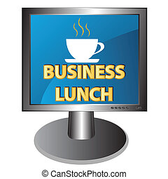 New business lunch icon on a white background