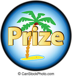 New prize logo - Prize logo located on a white background