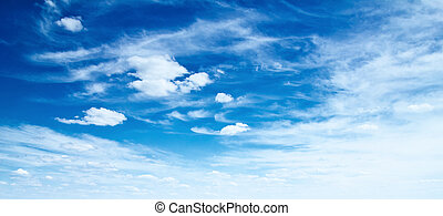 Sky panorama. Summer day background