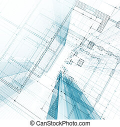 Architecture blueprint My design and 3d model