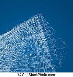 Architecture abstract. 3d render image