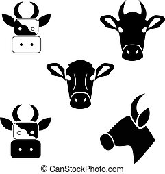 Silhouette of a cow