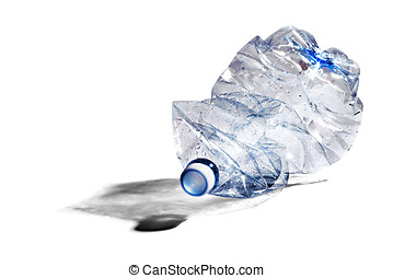 Crumpled plastic bottle for recycling - Crumpled plastic...