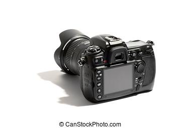 Digital dslr camera and lens - Rear view of a digital dslr...