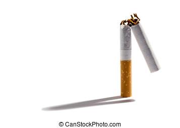 filtro, Cigarrillo, roto, dos