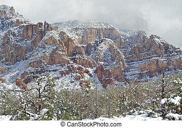 Sedona Arizona Snowy Landscape