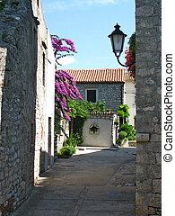 Picturesque Mediterranean village - Street in the old...