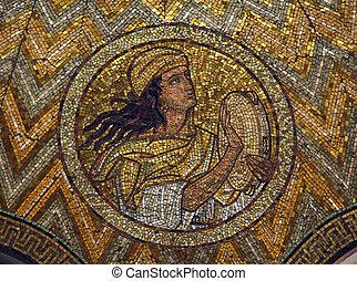 Adam, mosaic