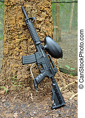 paintball gun - A paintball marker, also known as a...