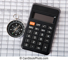 compass and calculator