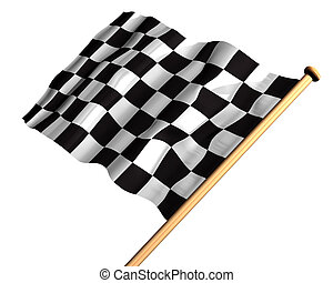 The winning flag - Isolated illustration of a checkered flag