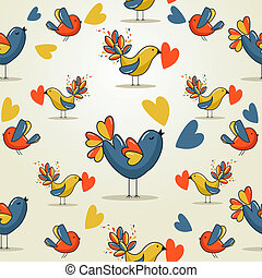 Love bird pattern - Valentine day love bird seamless pattern...