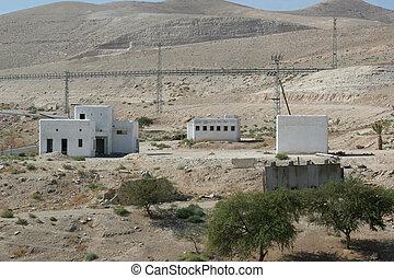 Village in Judea desert