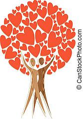 Couple tree of love
