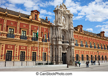 Palace of San Telmo in Seville - Baroque style Palace of San...