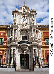 Palace of San Telmo Baroque Portal - Palace of San Telmo...