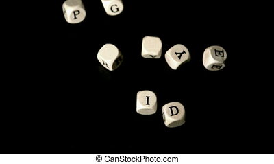 Gay pride dice falling together in slow motion