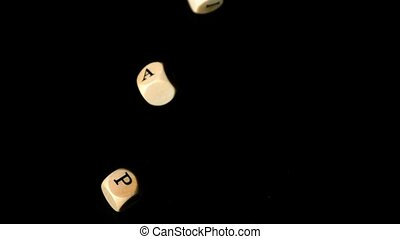 Gay pride day dice falling together