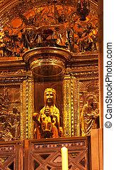 Black Madonna La Moreneta Monastery Montserrat Catalonia...