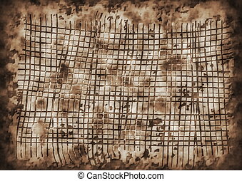 Abstract old rusty wire mesh stone