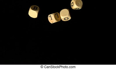 Blog dice falling together in slow motion