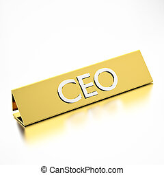 CEO Job Title Nameplate - CEO job title on nameplate, for...
